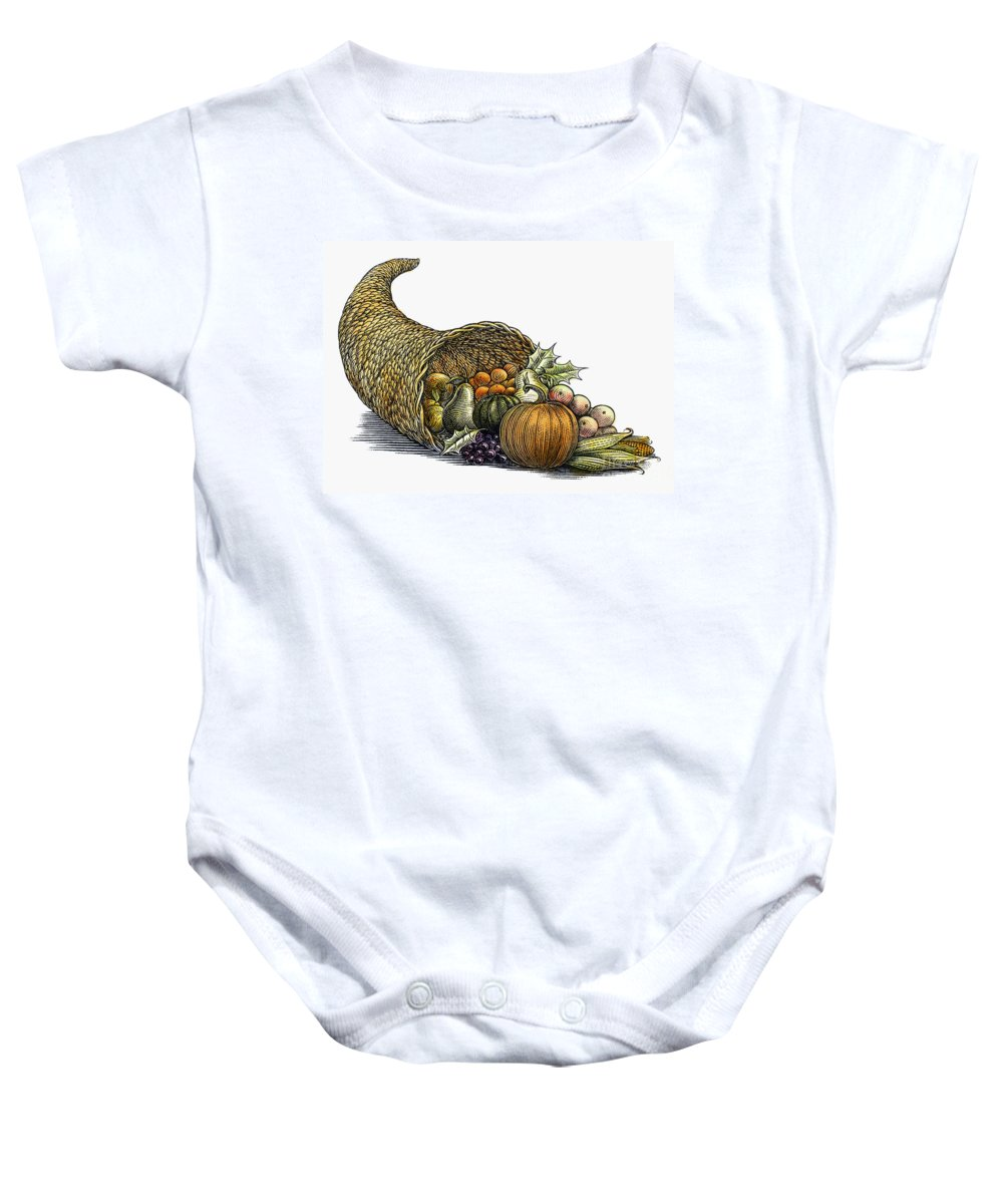 19th Century Baby Onesie featuring the photograph Thanksgiving: Cornucopia by Granger