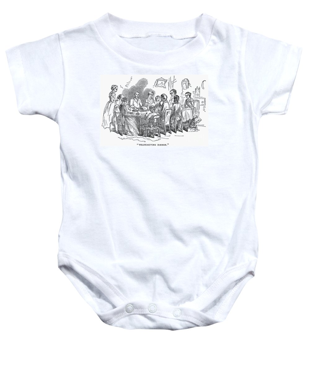 1850 Baby Onesie featuring the photograph Thanksgiving Dinner, 1850 by Granger