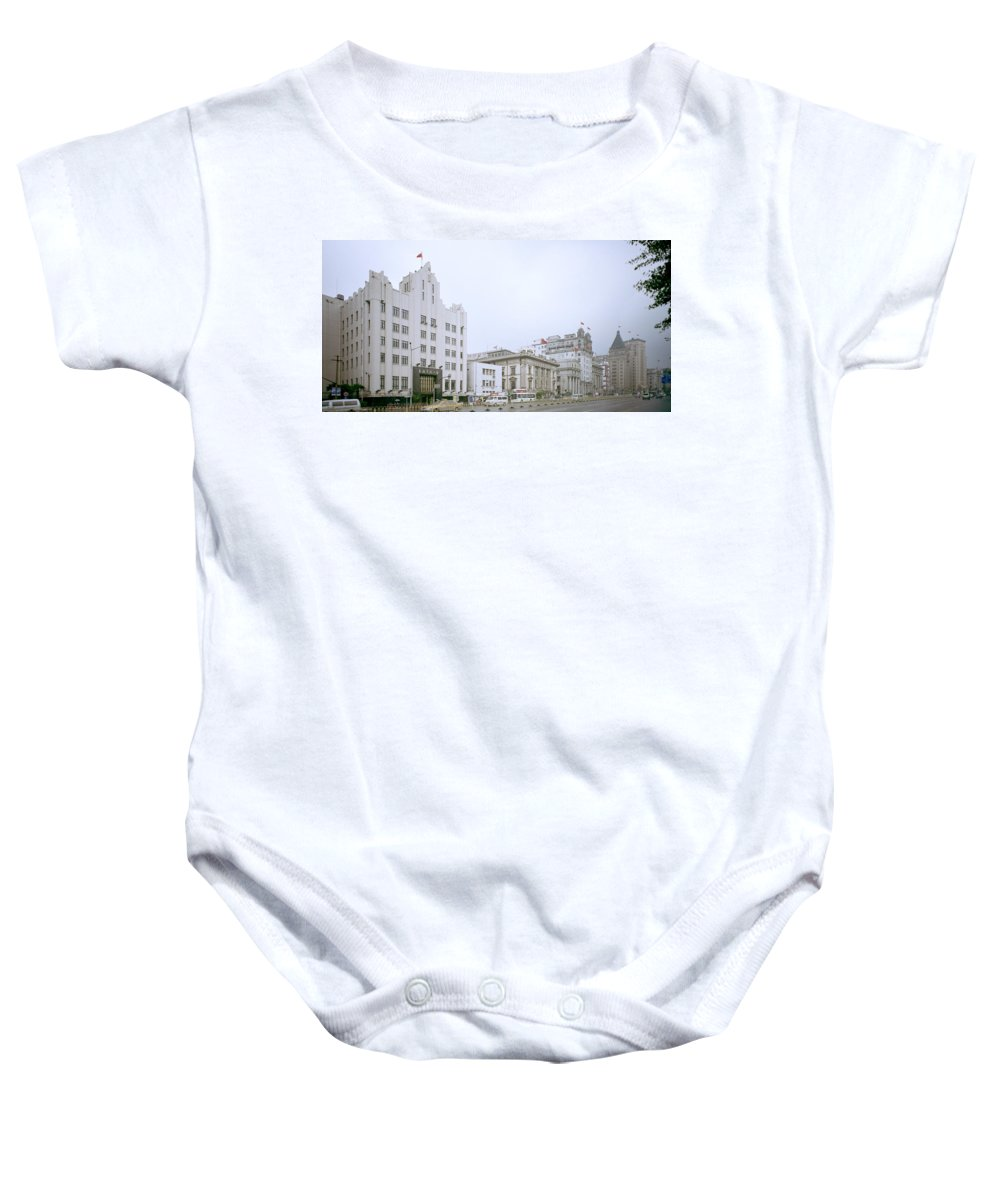 China Baby Onesie featuring the photograph The Bund In Shanghai In China by Shaun Higson