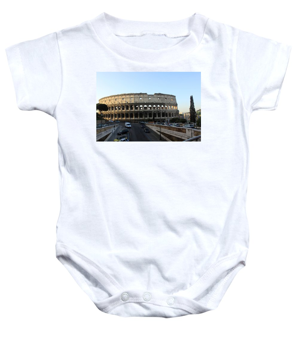 Rome Baby Onesie featuring the photograph The Colosseum In Rome by Munir Alawi