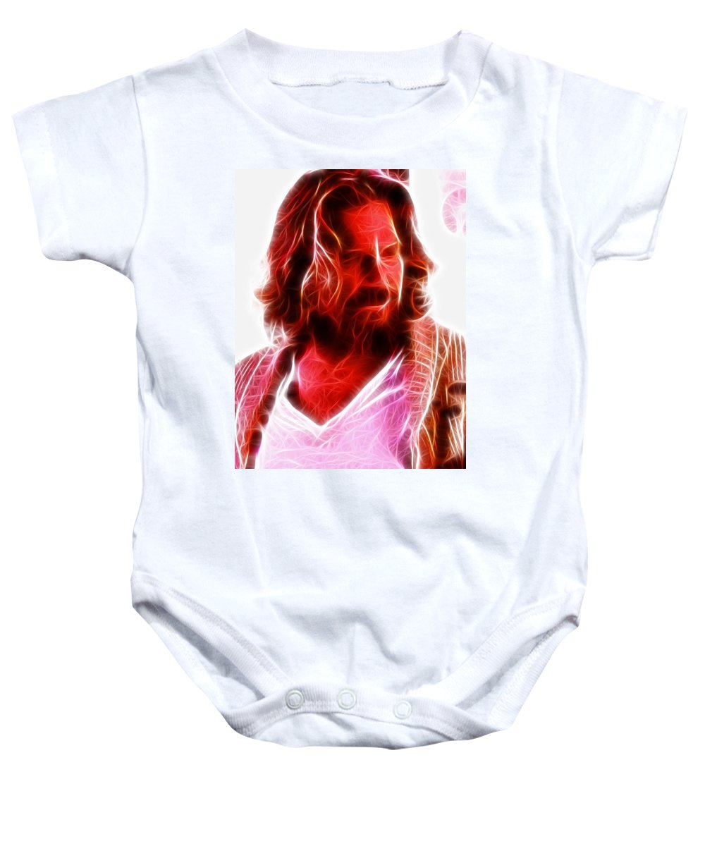 The Dude Baby Onesie featuring the painting The Dude by Paul Van Scott