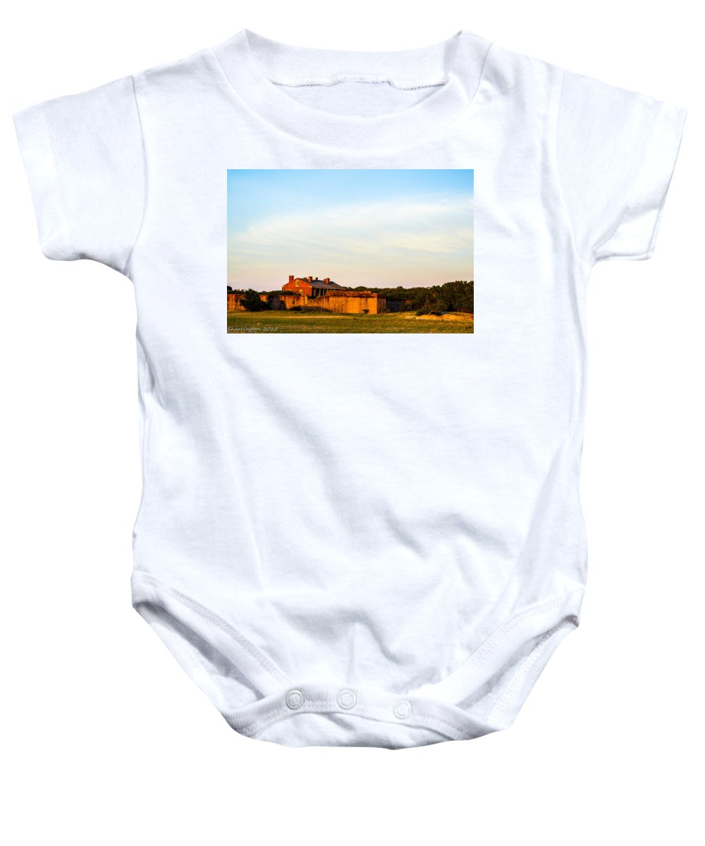 Fort Baby Onesie featuring the photograph The Fort by Shannon Harrington