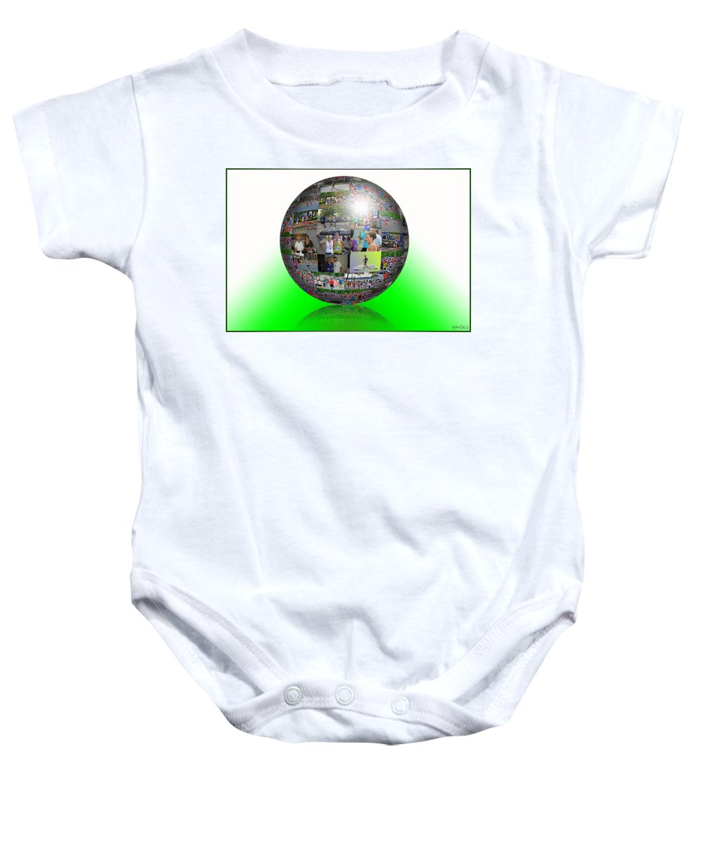 Baby Onesie featuring the photograph The Love Of Running by Michael Frank Jr