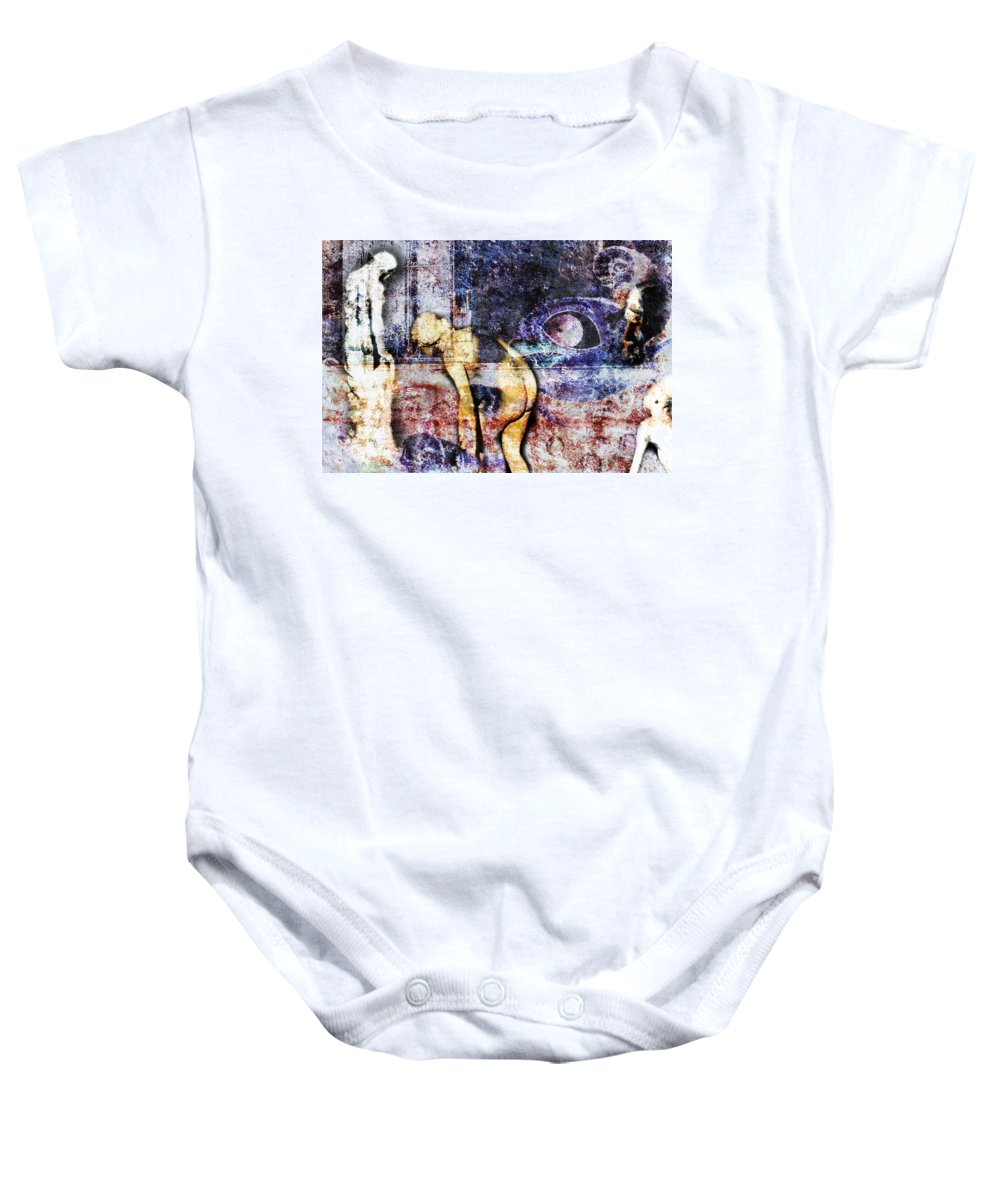 Wall Baby Onesie featuring the digital art The Wall by Diane Dugas