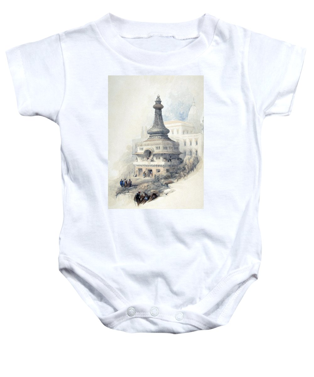 Tom Baby Onesie featuring the photograph Tom Of David S Son by Munir Alawi