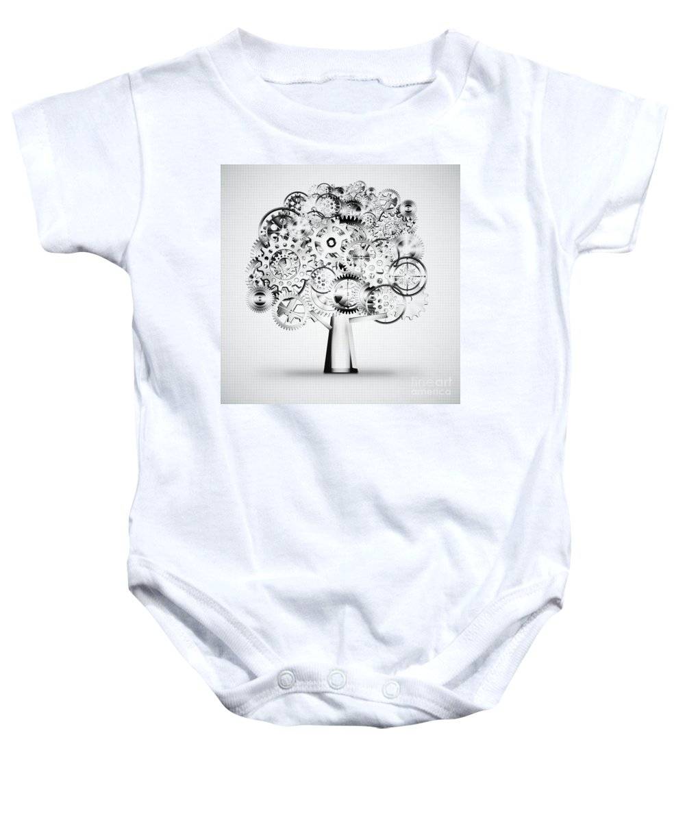 Art Baby Onesie featuring the photograph Tree Of Industrial by Setsiri Silapasuwanchai