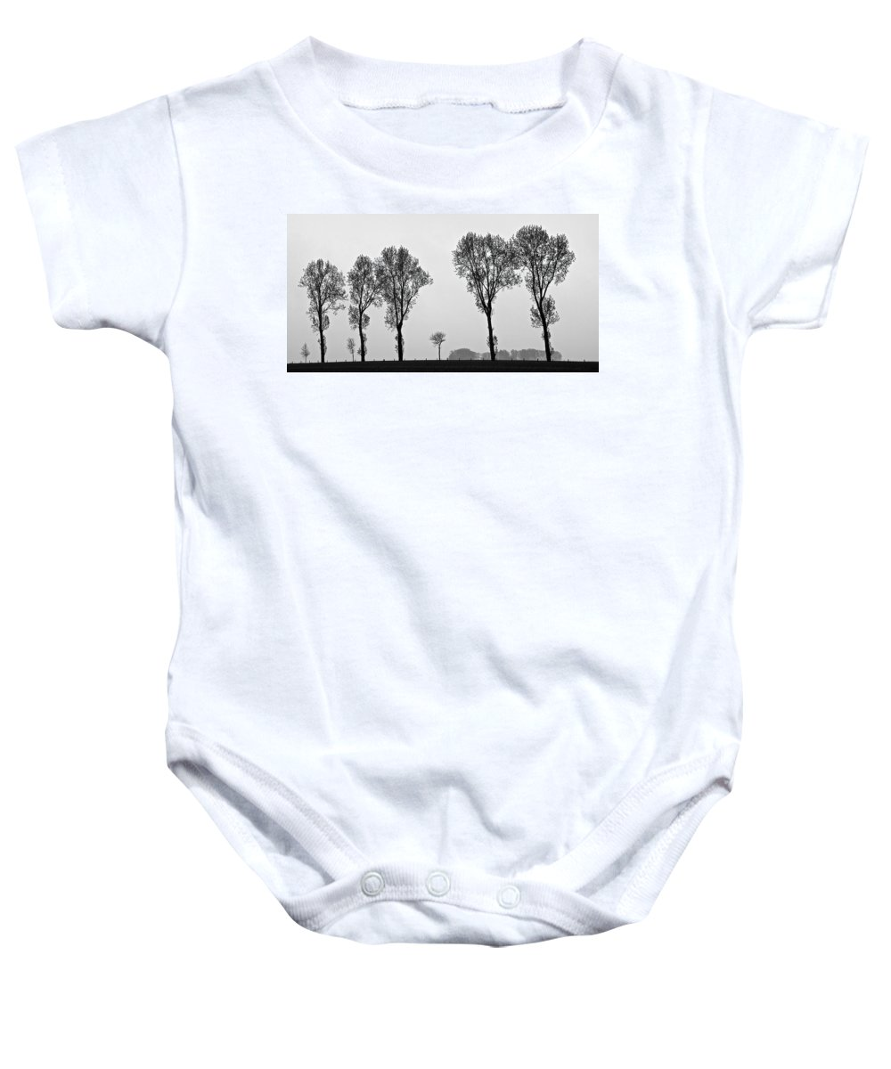 Trees Baby Onesie featuring the photograph Trees by Eric Tressler