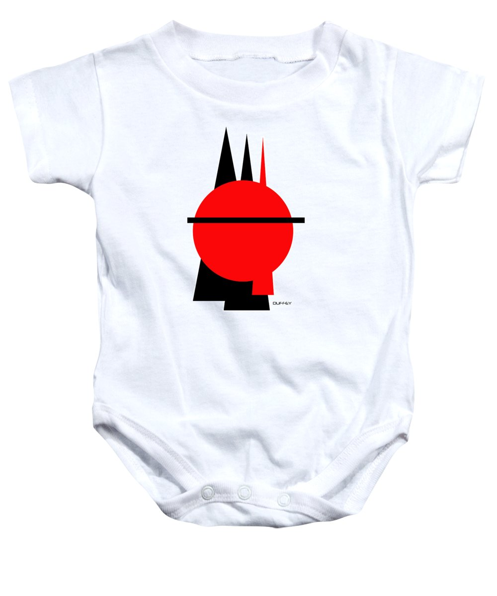 Post Constructivism/geometric Digital Drawings Baby Onesie featuring the photograph Untitled Ch 8 by Doug Duffey