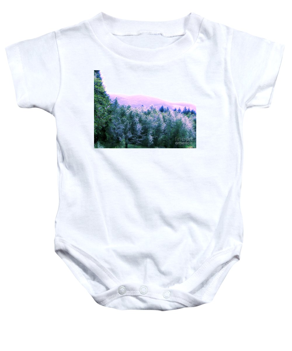 Landscape Baby Onesie featuring the photograph View From Paradise Farm by Rory Sagner
