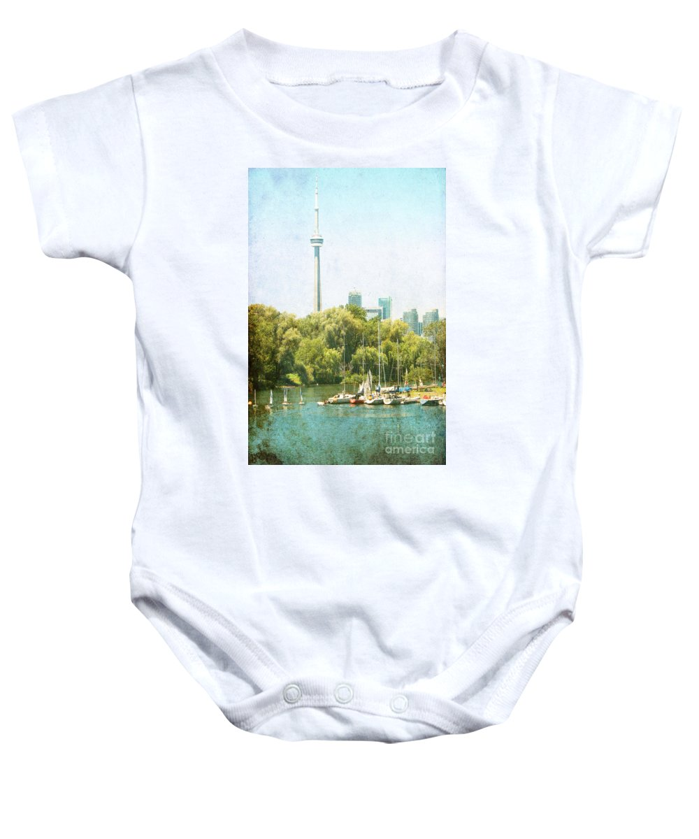 Toronto Baby Onesie featuring the photograph Vintage Toronto by Traci Cottingham