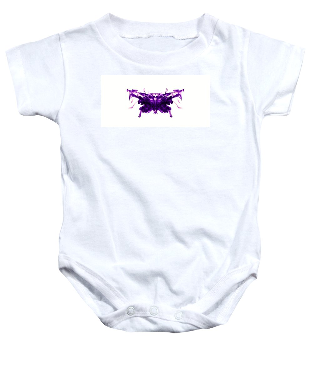 Ink Baby Onesie featuring the photograph Violet Abstract Butterfly by Sumit Mehndiratta