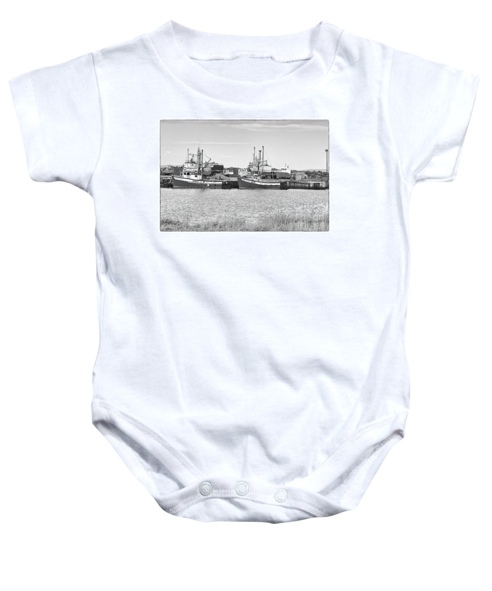 Boats Baby Onesie featuring the photograph Waiting by Eunice Gibb