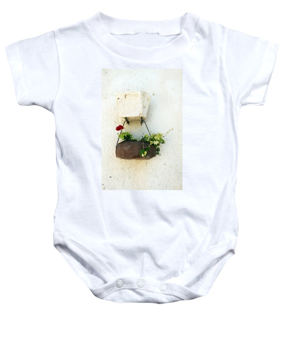 Flower Baby Onesie featuring the photograph Waiting For The Meeting by Munir Alawi