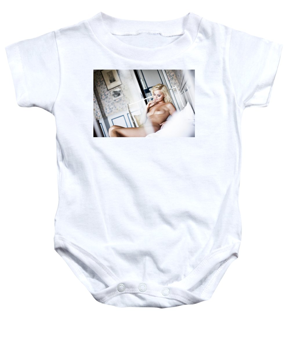 Color Baby Onesie featuring the photograph Waiting For You by Olivier De Rycke