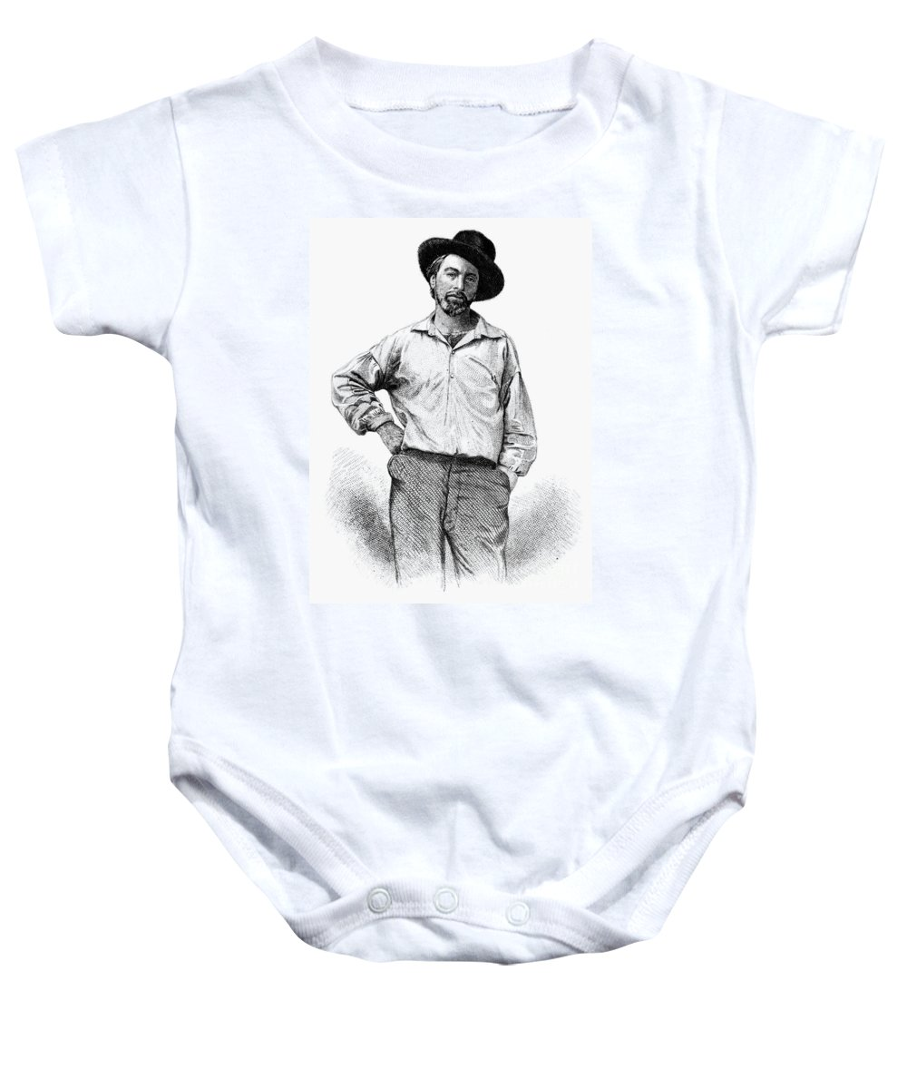 1855 Baby Onesie featuring the photograph Walt Whitman (1819-1892) by Granger
