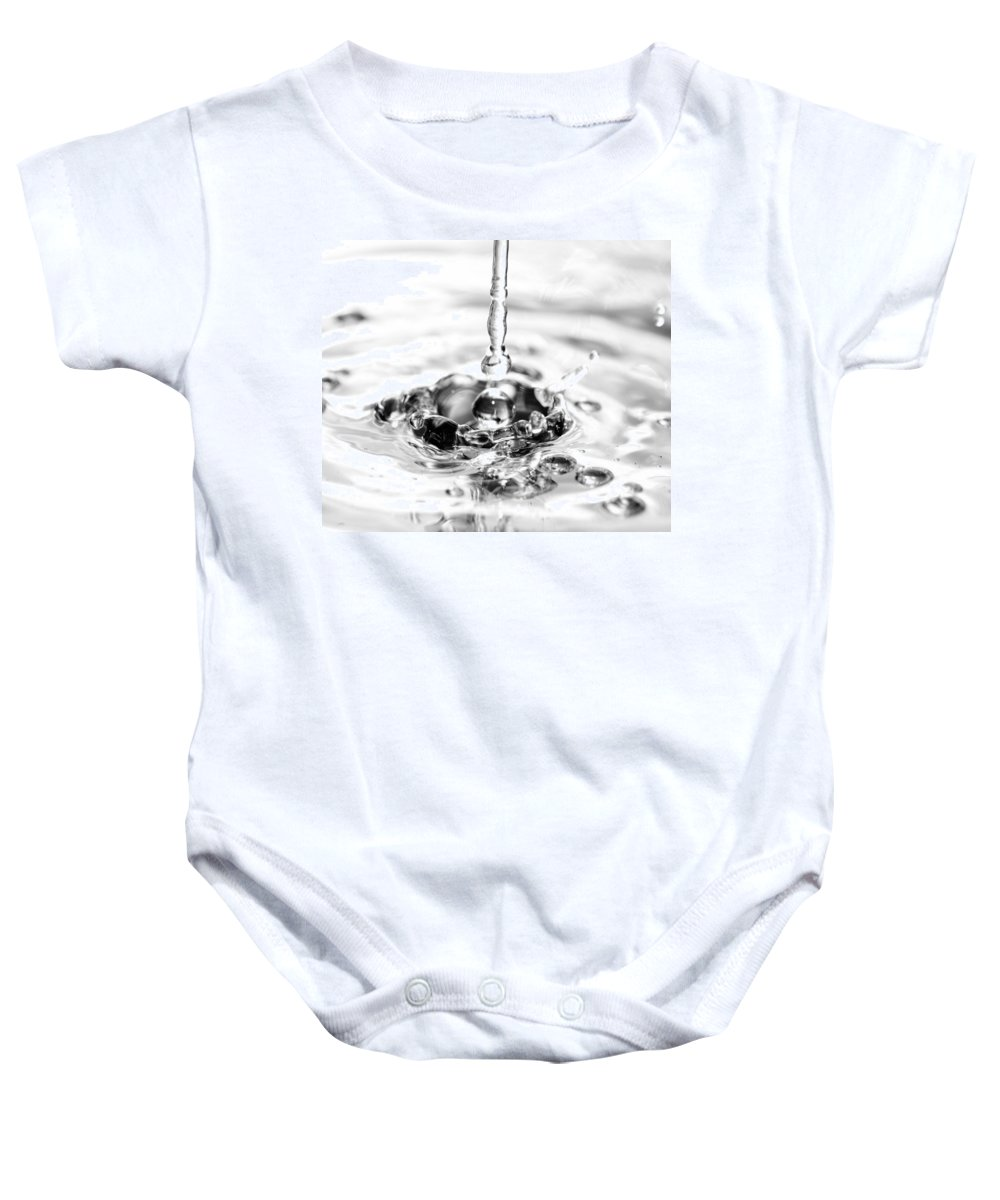 Water Baby Onesie featuring the photograph Waterdrop16 by Danielle Silveira