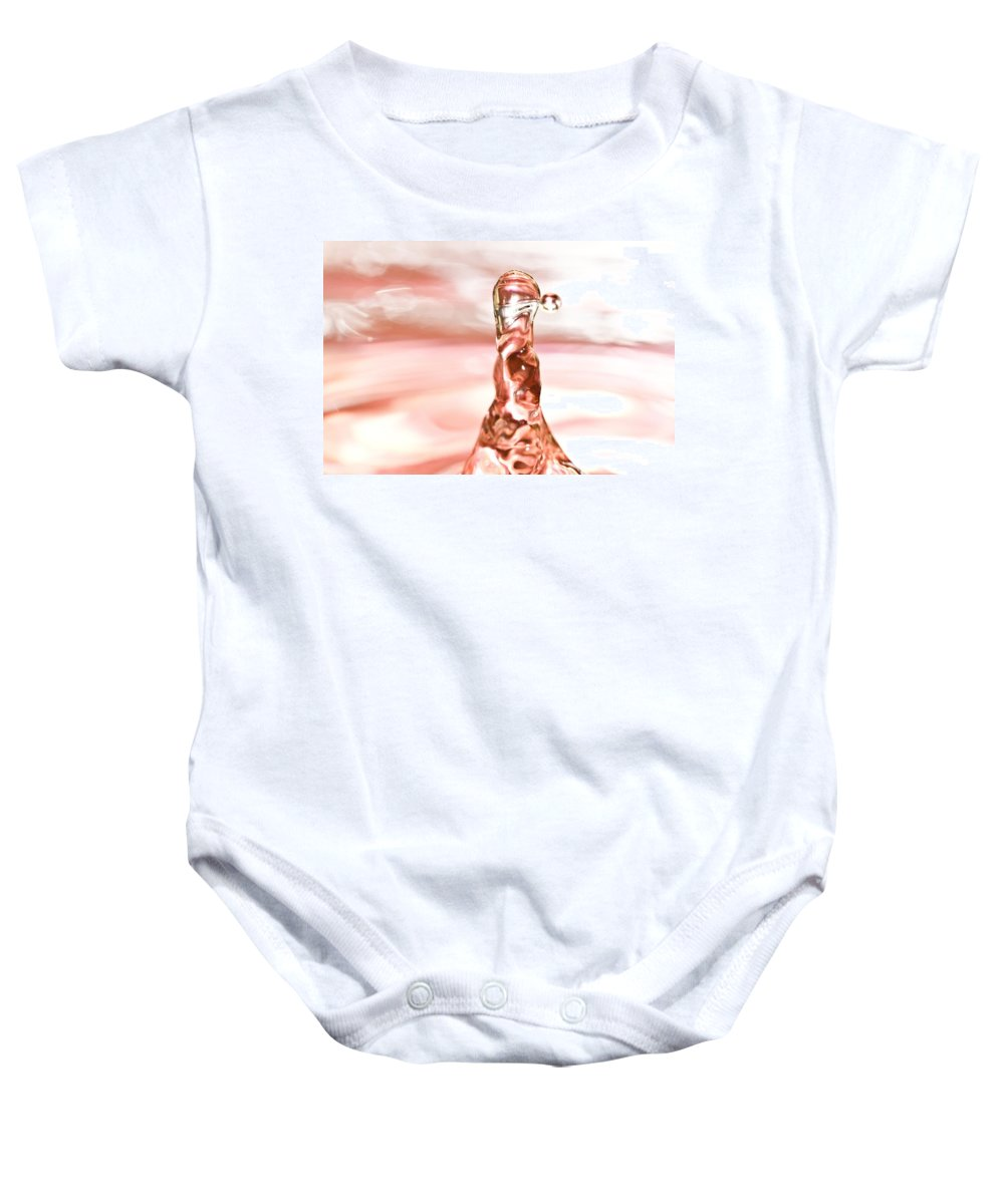 Water Drop Baby Onesie featuring the photograph Waterdrop7 by Danielle Silveira