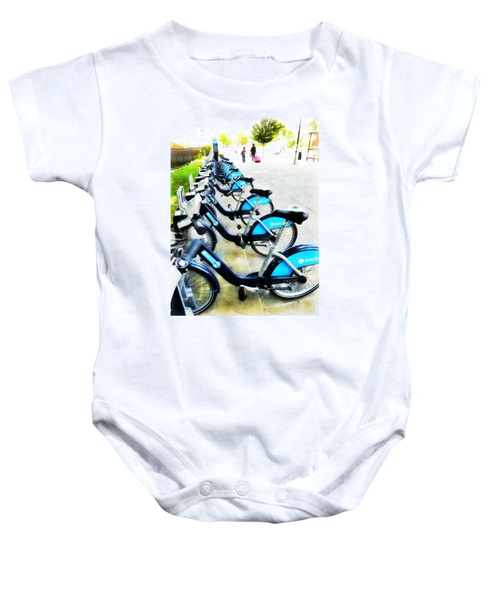 Bike Baby Onesie featuring the photograph We Prefer To Walk by Steve Taylor
