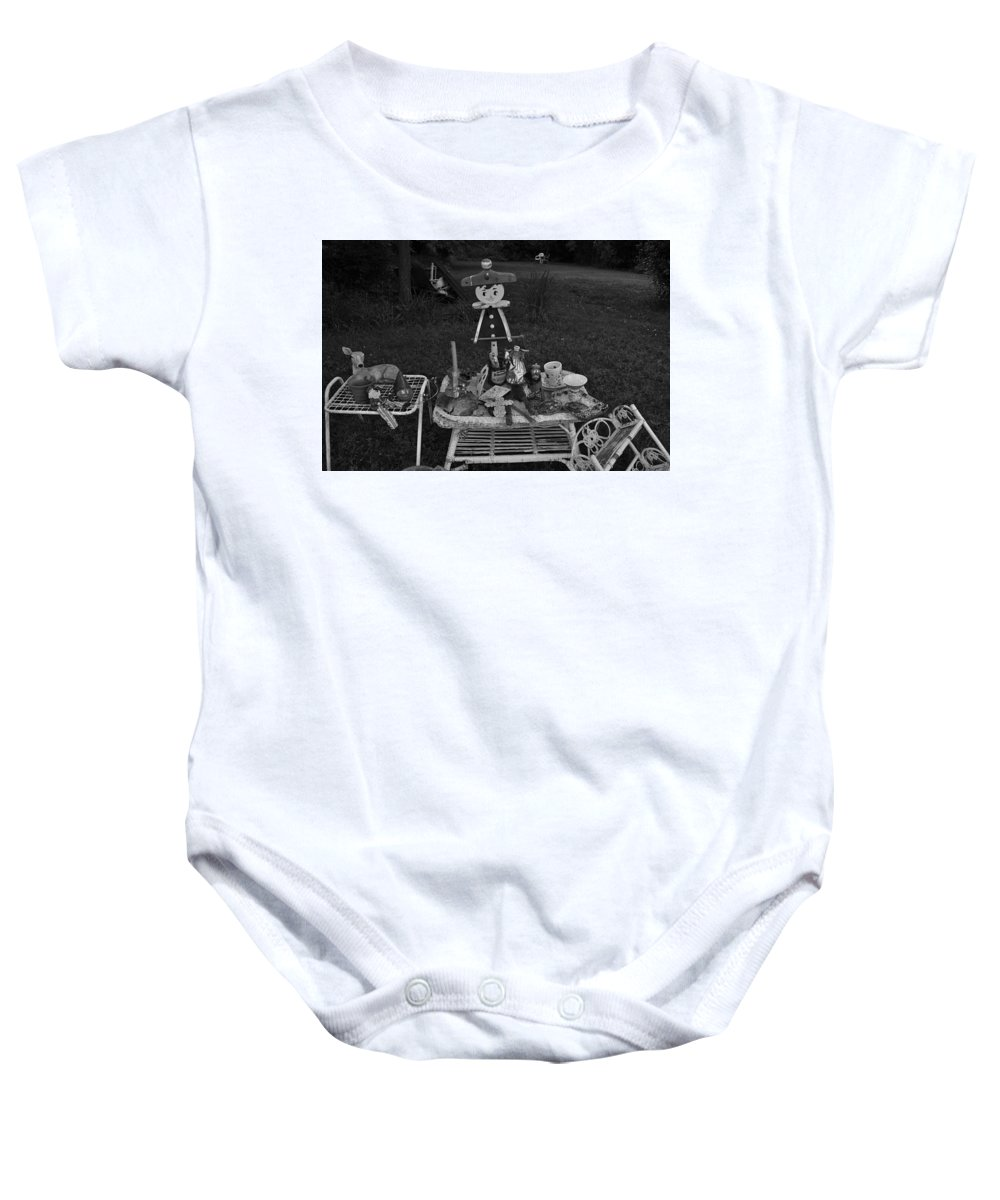 Toys Baby Onesie featuring the photograph Weird Stuff Found On The Street by Catherine Conroy