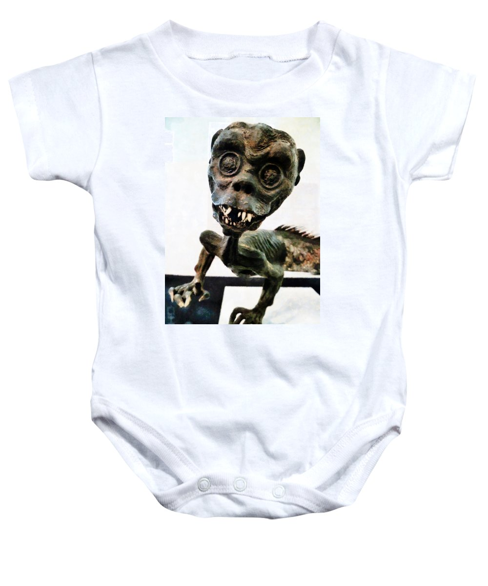Artefact Baby Onesie featuring the photograph Welcome To My World by Steve Taylor