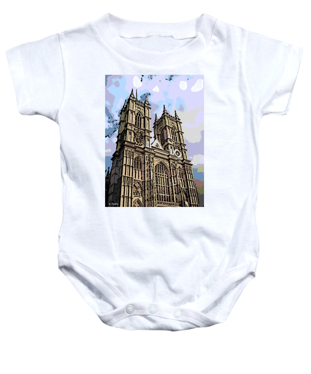 Westminster Baby Onesie featuring the photograph Westminster Abbey by George Pedro