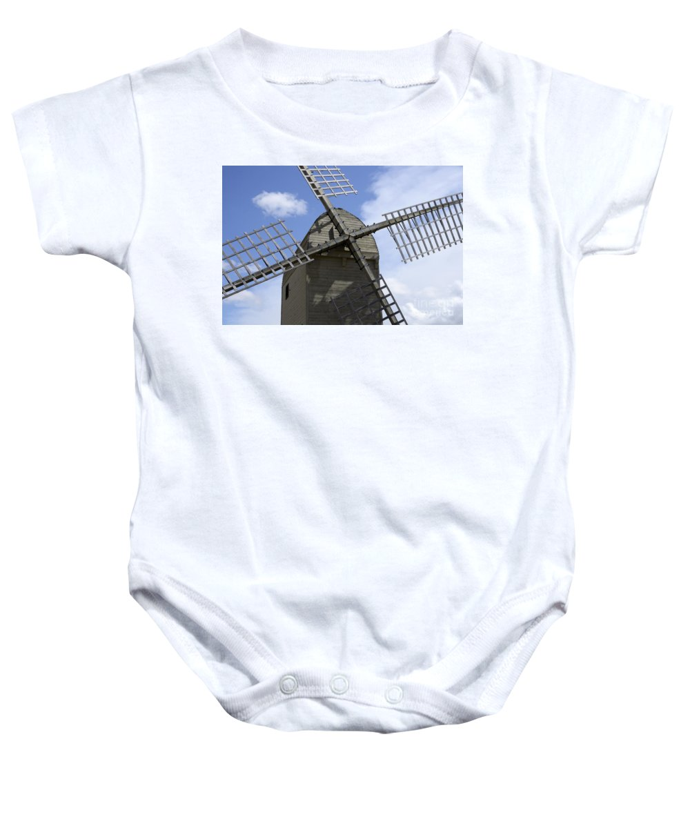 Windmill Baby Onesie featuring the photograph Windmill 10 by Bob Christopher
