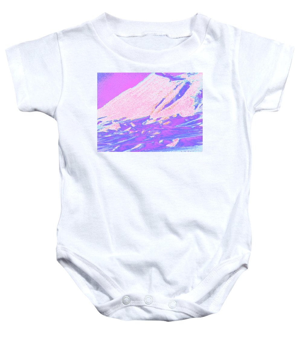 Abstract Baby Onesie featuring the photograph Wyoming Mountains 4-2 by Lenore Senior