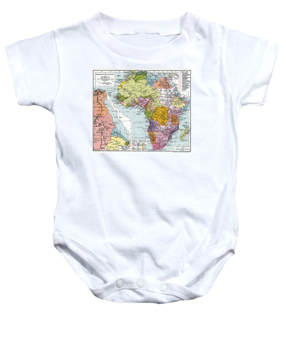1914 Baby Onesie featuring the painting Partitioned Africa, 1914 by Granger