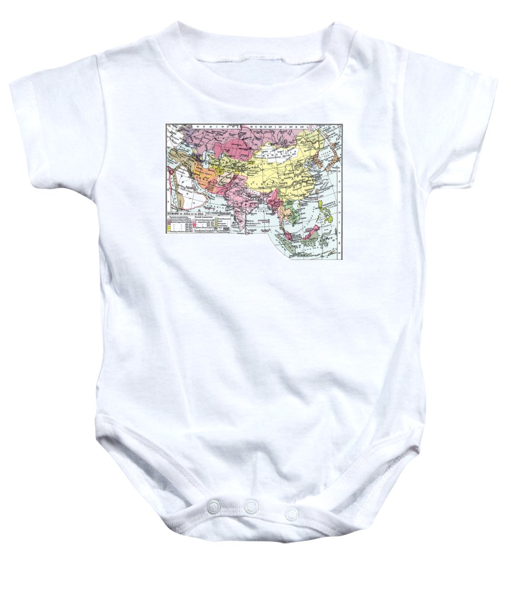1914 Baby Onesie featuring the painting Map: Europe In Asia by Granger