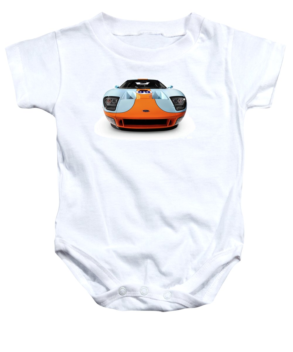 Ford Baby Onesie featuring the photograph 2006 Ford Gt by Oleksiy Maksymenko