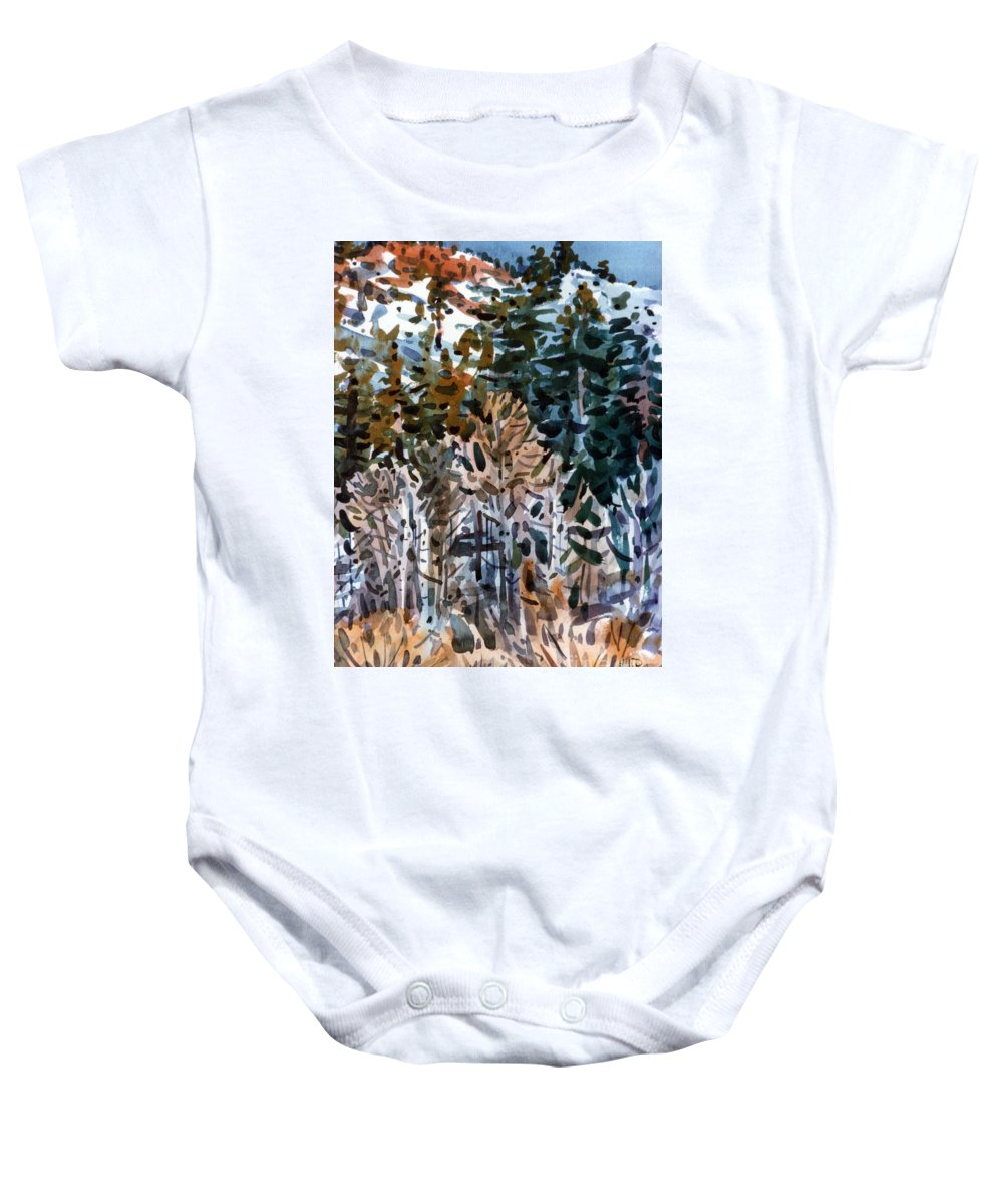 Walker River Baby Onesie featuring the painting Along The Walker River by Donald Maier