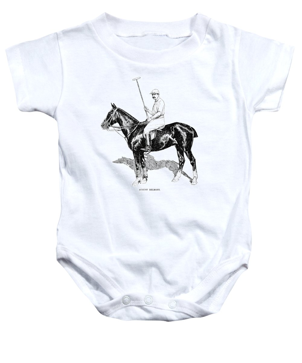 1891 Baby Onesie featuring the photograph August Belmont (1853-1924) by Granger
