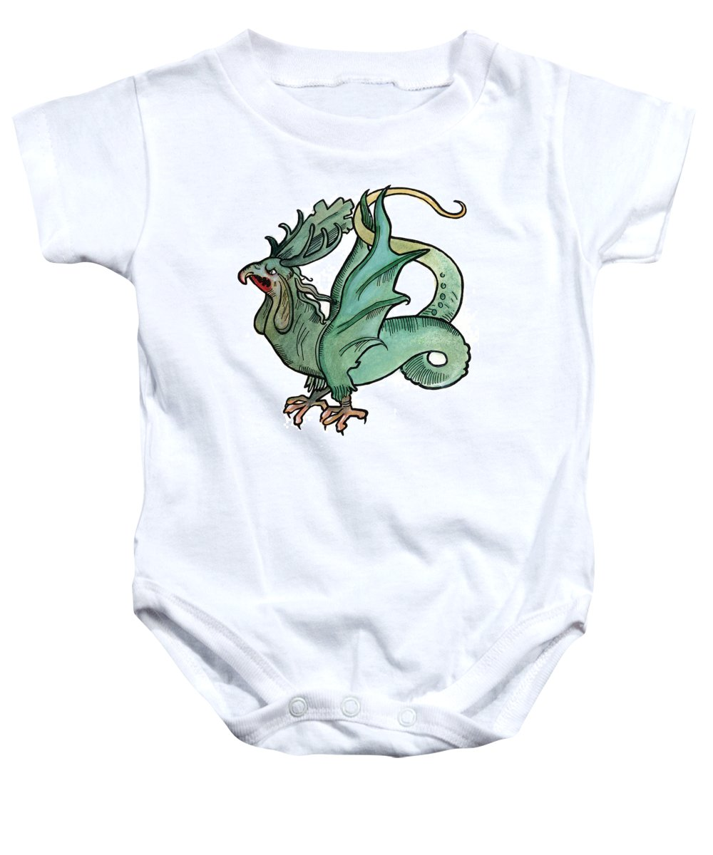 1510 Baby Onesie featuring the photograph Basilisk by Granger