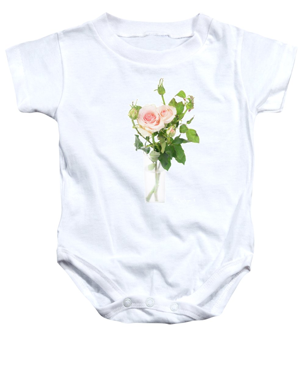 Rose Baby Onesie featuring the photograph Rose Twigs by Anastasy Yarmolovich