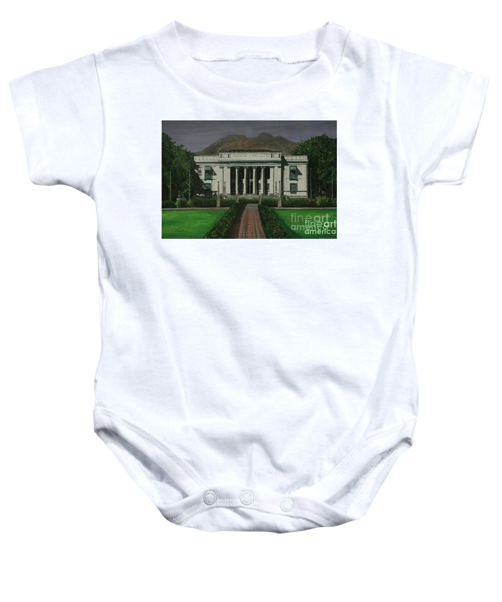 Dumaguete Baby Onesie featuring the painting Capitol Building Negros Oriental by Richard John Holden RA