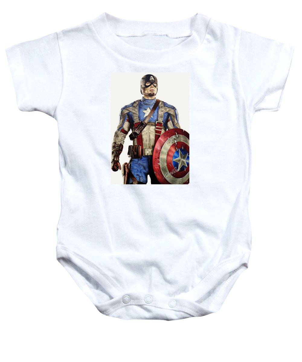 e2794ec3e Captain America Onesie for Sale by David Dias
