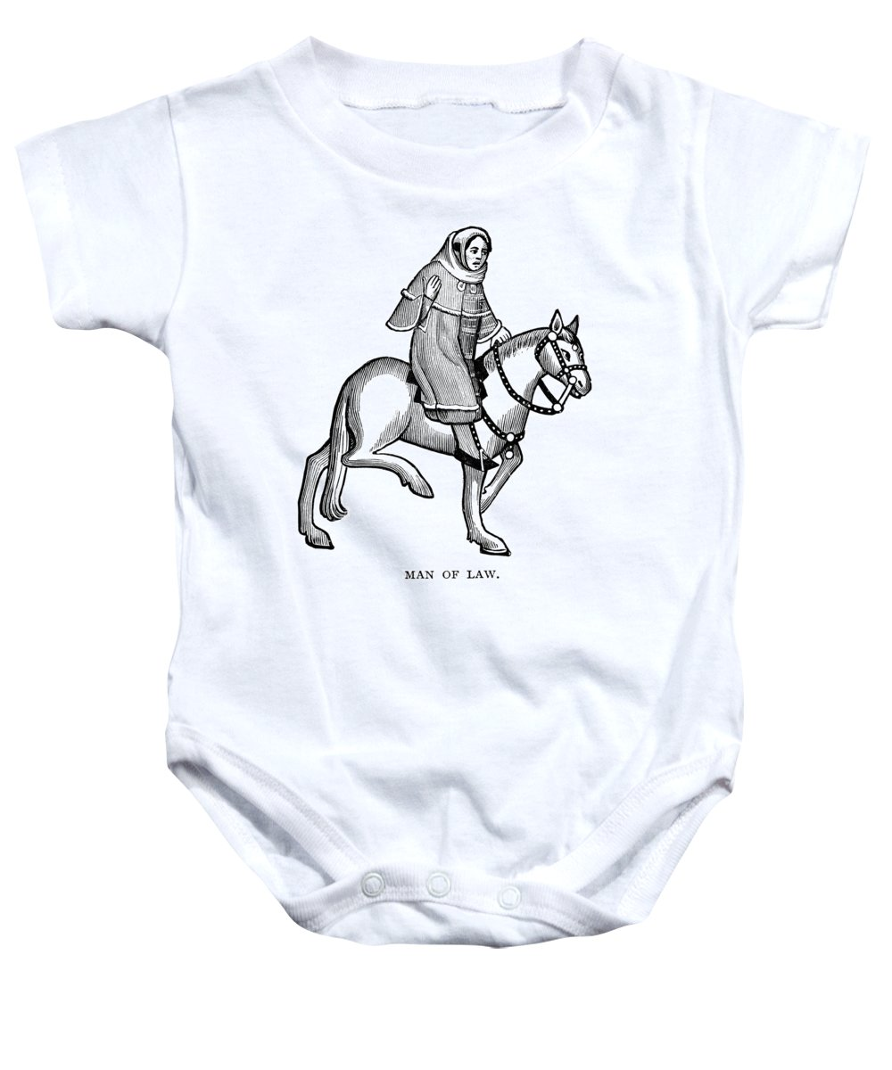 15th Century Baby Onesie featuring the photograph Chaucer: The Man Of Law by Granger