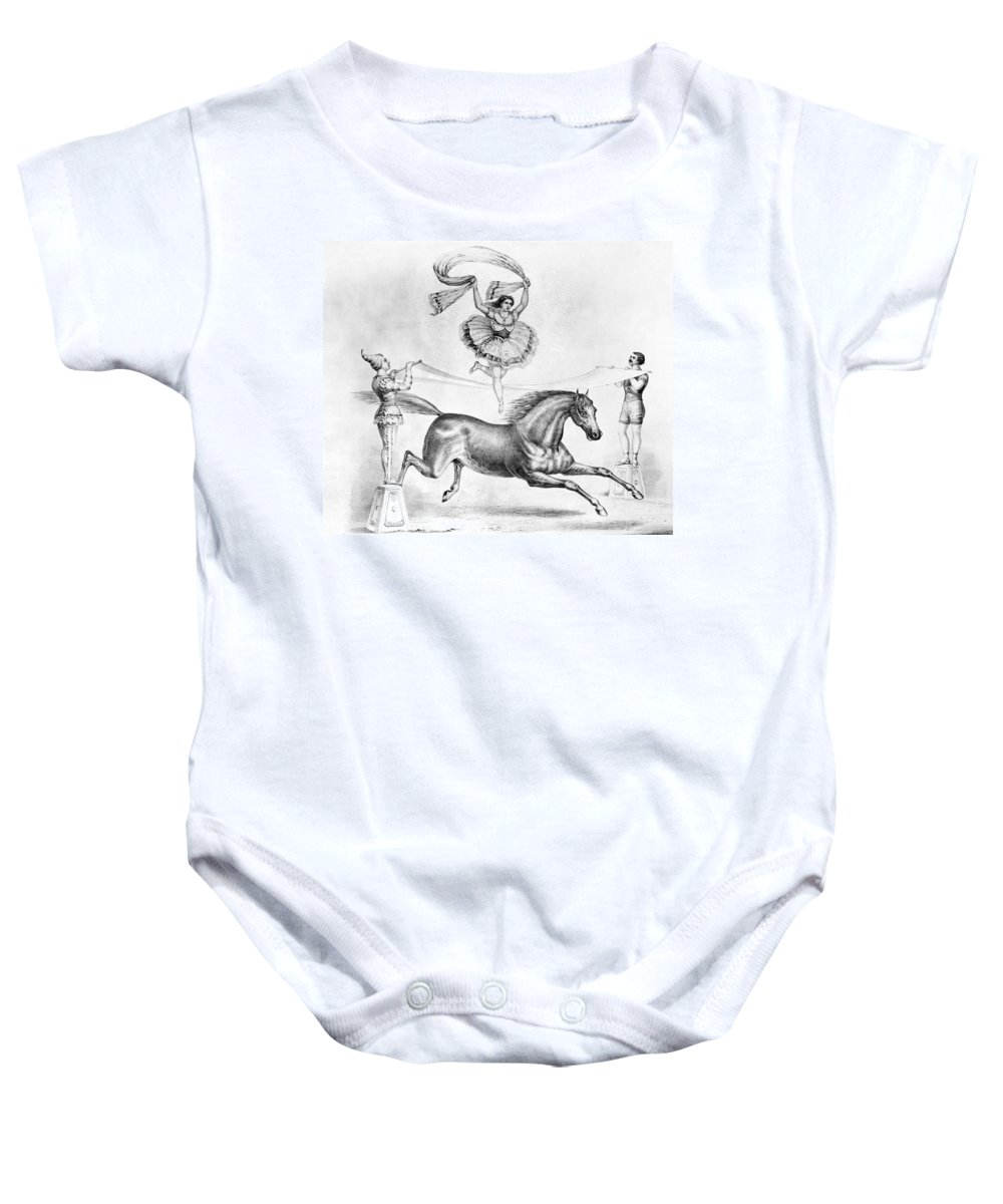 19th Century Baby Onesie featuring the photograph Circus: Acrobats by Granger