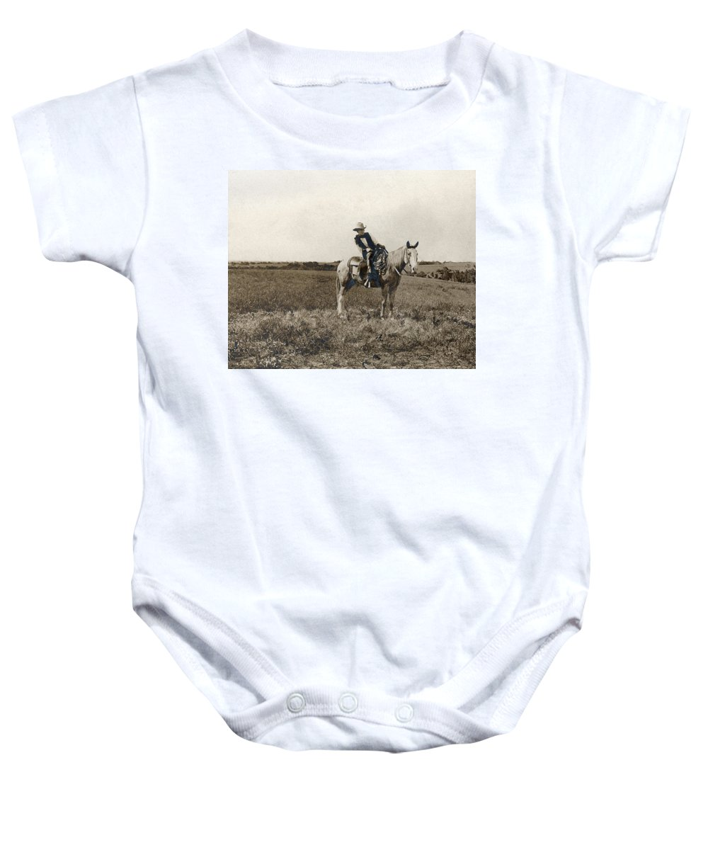 1908 Baby Onesie featuring the photograph Erwin E. Smith (1886-1947) by Granger