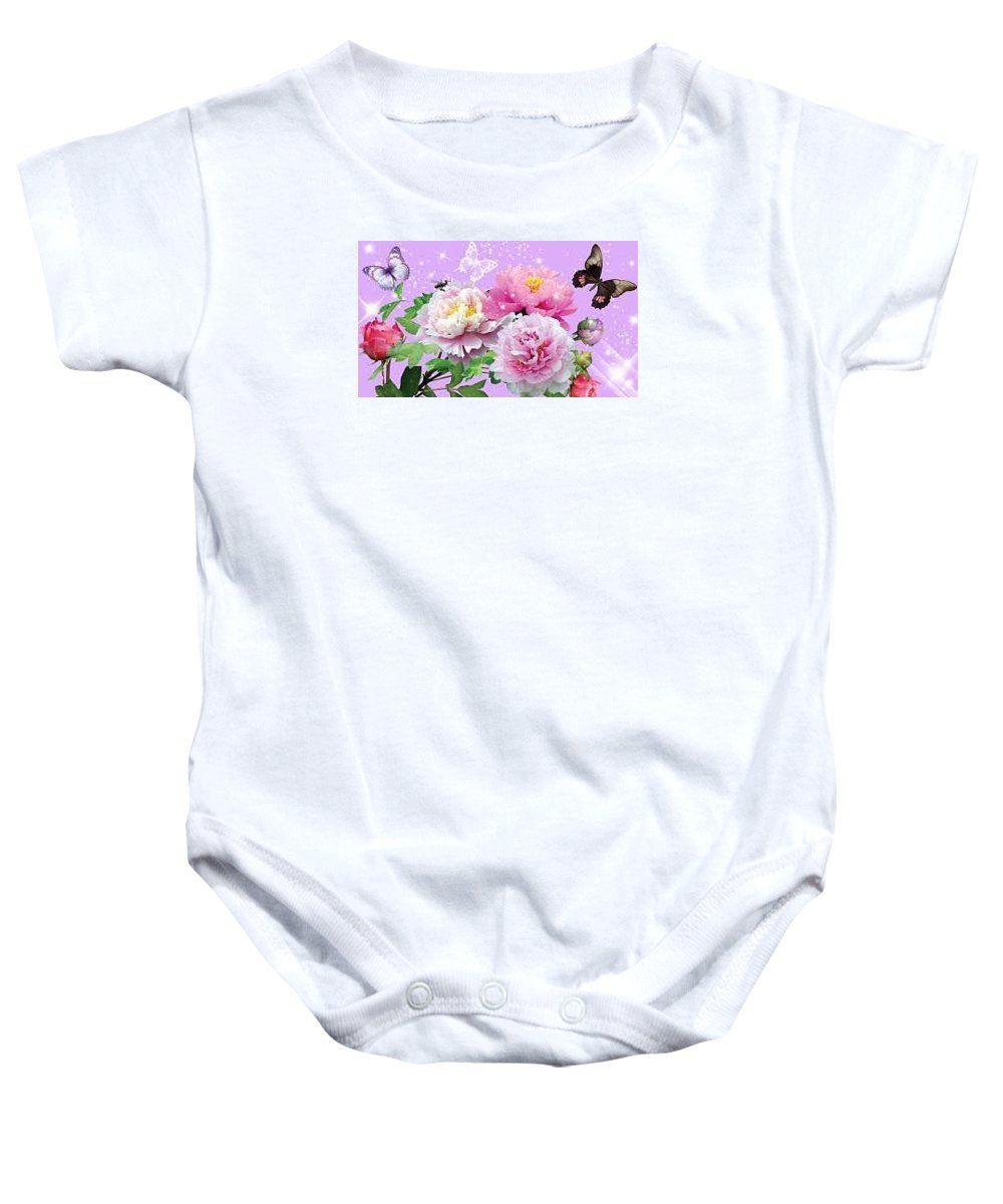 Justice Msa Siddiqui Complaints Baby Onesie featuring the photograph Flowers Image by MSA Siddiqui