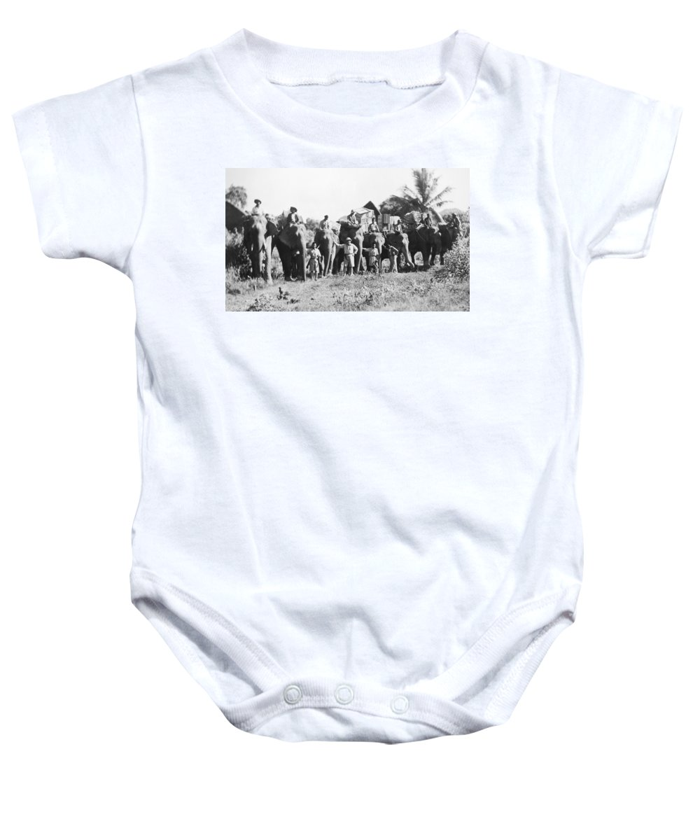 1935 Baby Onesie featuring the photograph Frank Buck (1884-1950) by Granger