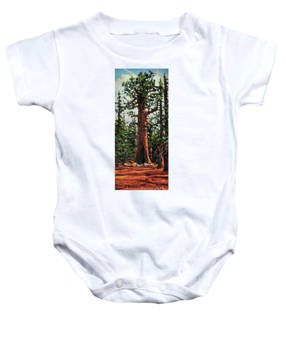 General Sherman Baby Onesie featuring the painting General Sherman by Donald Maier