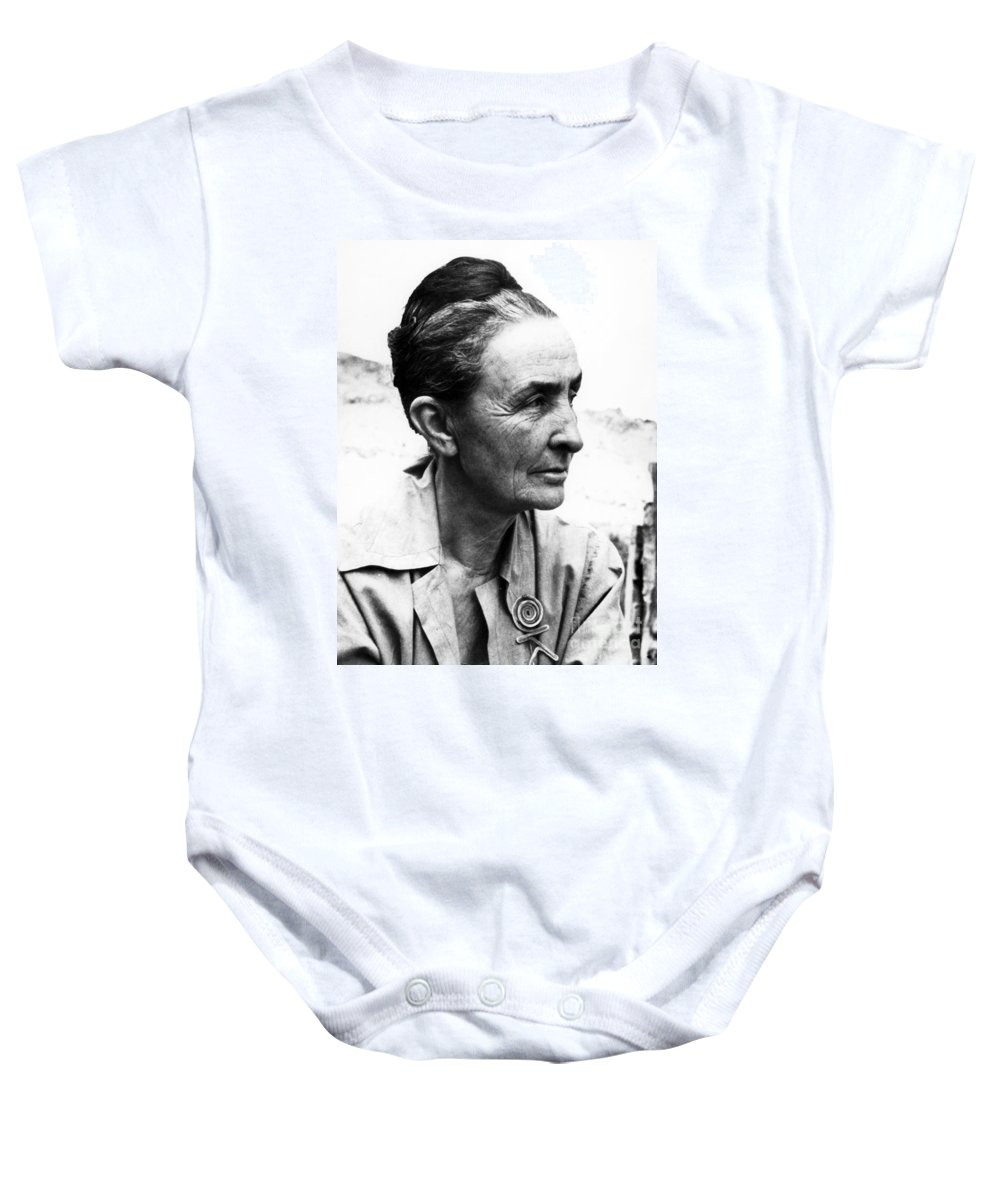1962 Baby Onesie featuring the photograph Georgia Okeeffe (1887-1986) by Granger