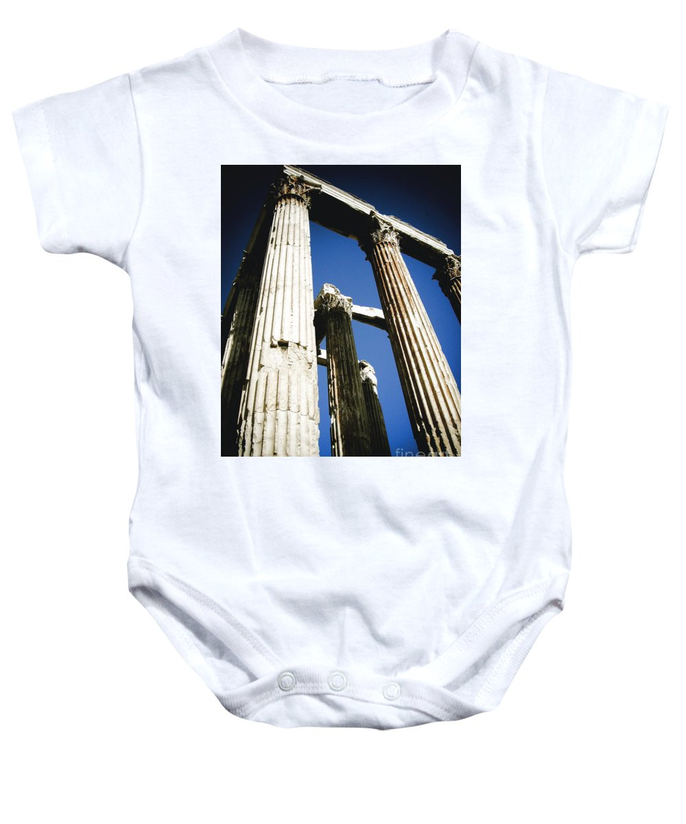 Greek Baby Onesie featuring the photograph Greek Pillars by Sonal Dave
