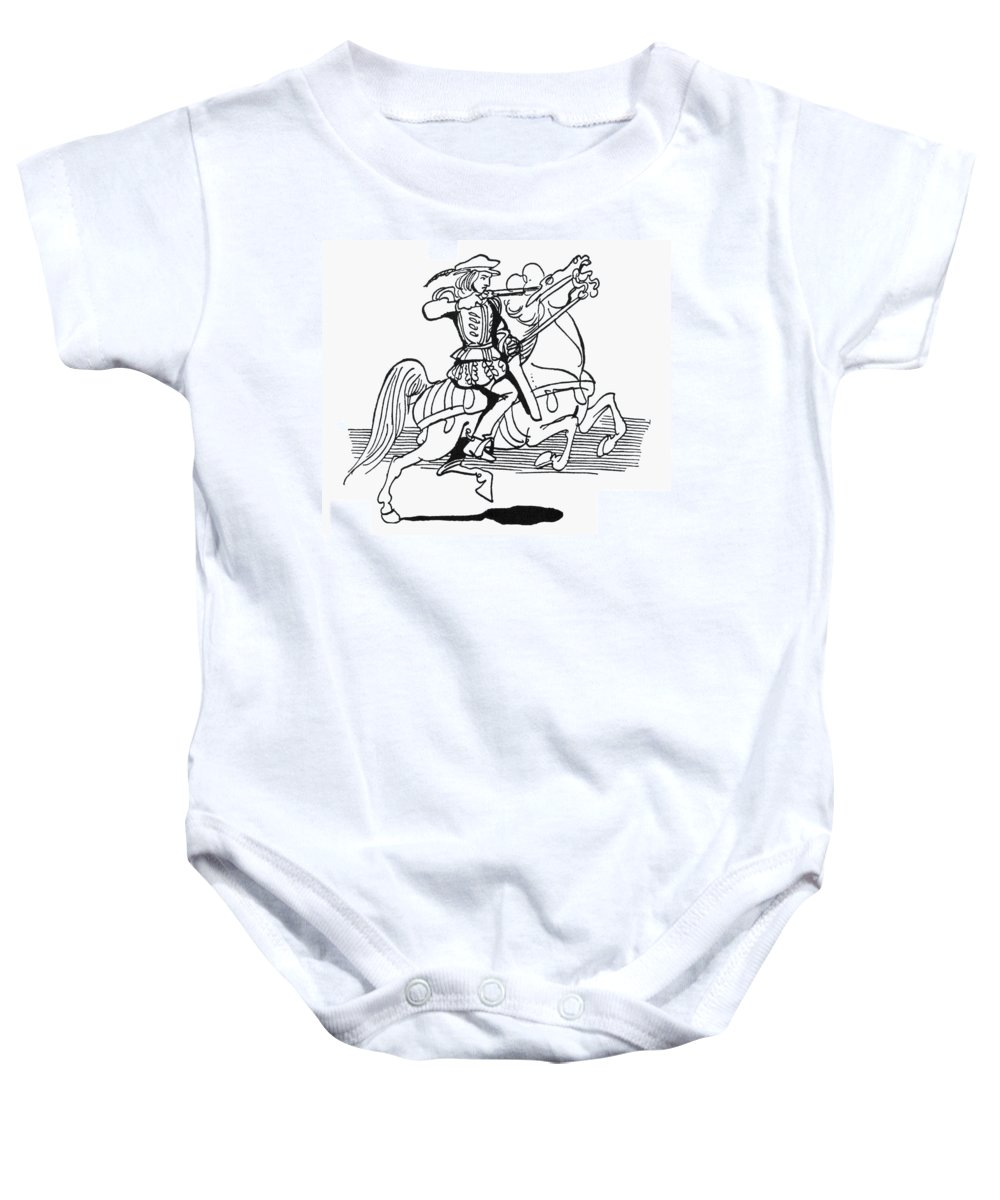 19th Century Baby Onesie featuring the photograph Grimm: Faithful John by Granger