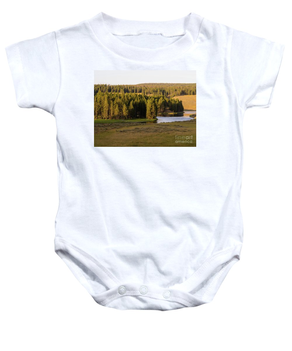 Wyoming Baby Onesie featuring the photograph Hayden Valley 2 by Tracy Knauer