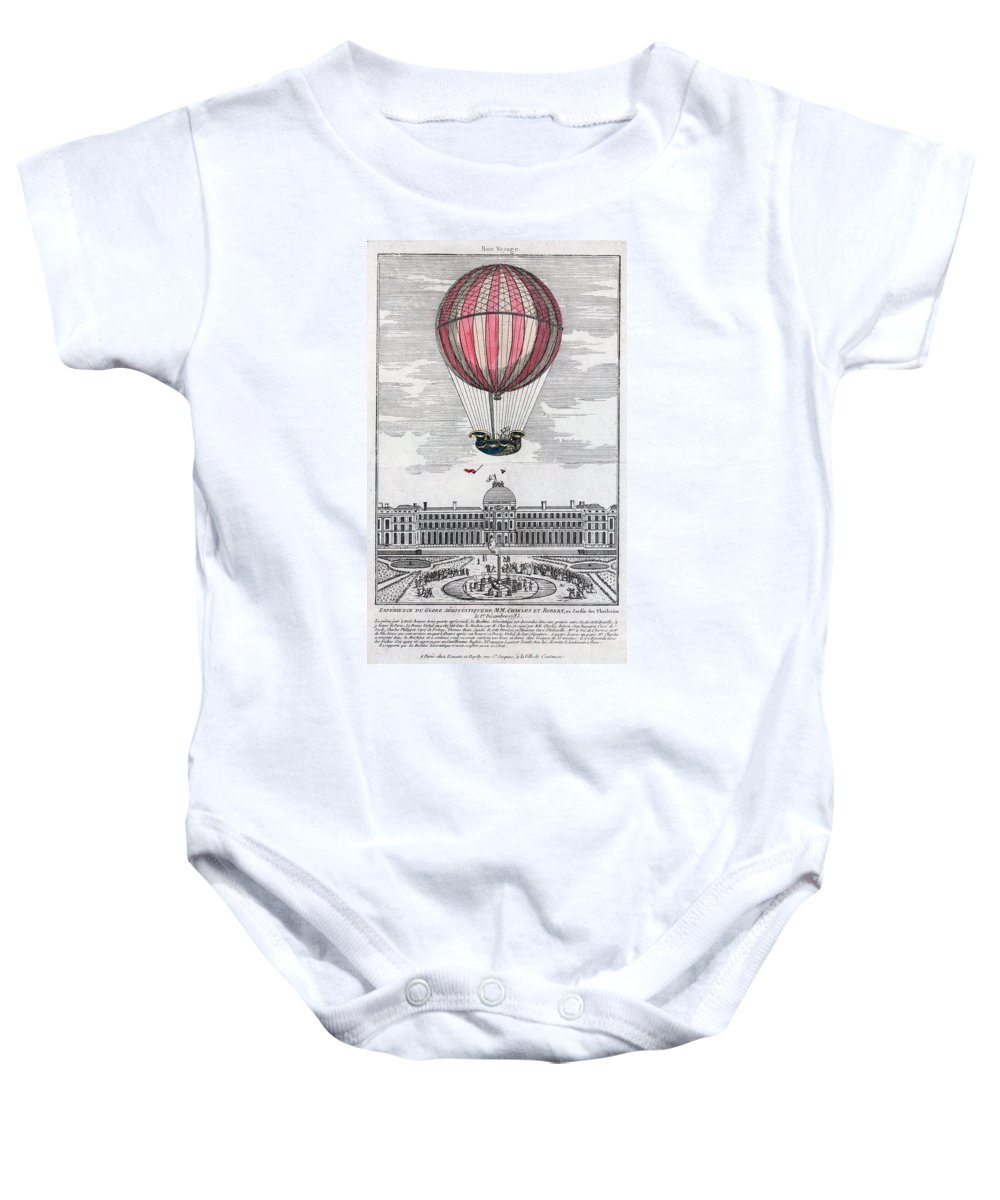 1783 Baby Onesie featuring the photograph Hydrogen Balloon, 1783 by Granger