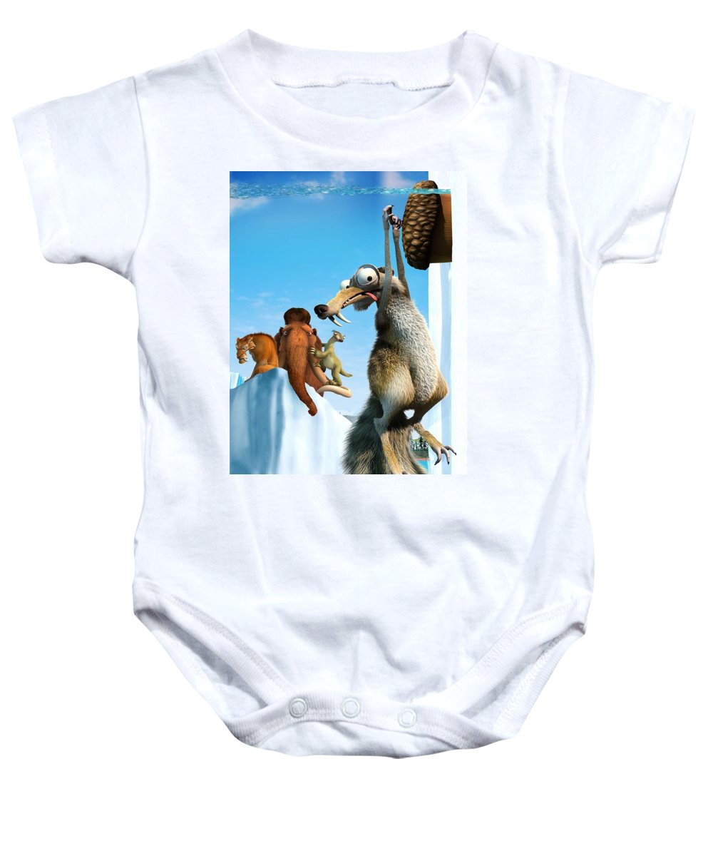 Ice Age The Meltdown 2006 Baby Onesie featuring the digital art Ice Age The Meltdown 2006 by Geek N Rock