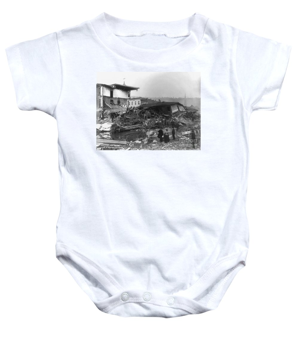 1889 Baby Onesie featuring the photograph Johnstown Flood, 1889 by Granger