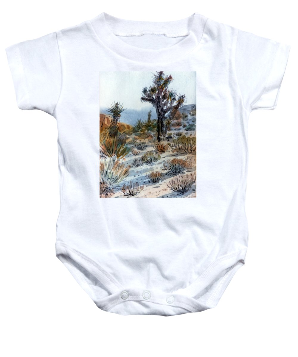 Joshua Tree Baby Onesie featuring the painting Joshua Tree by Donald Maier